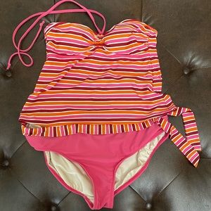 Isaac Mizrahi - Two Piece Tankini Swim - Size XL
